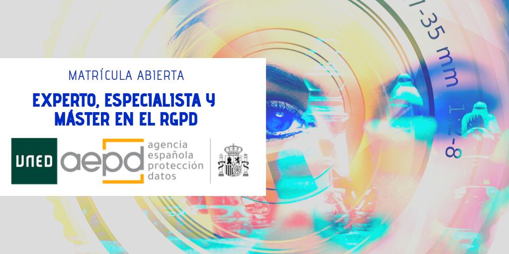 Máster en el RGPD de la UNED y la AEPD